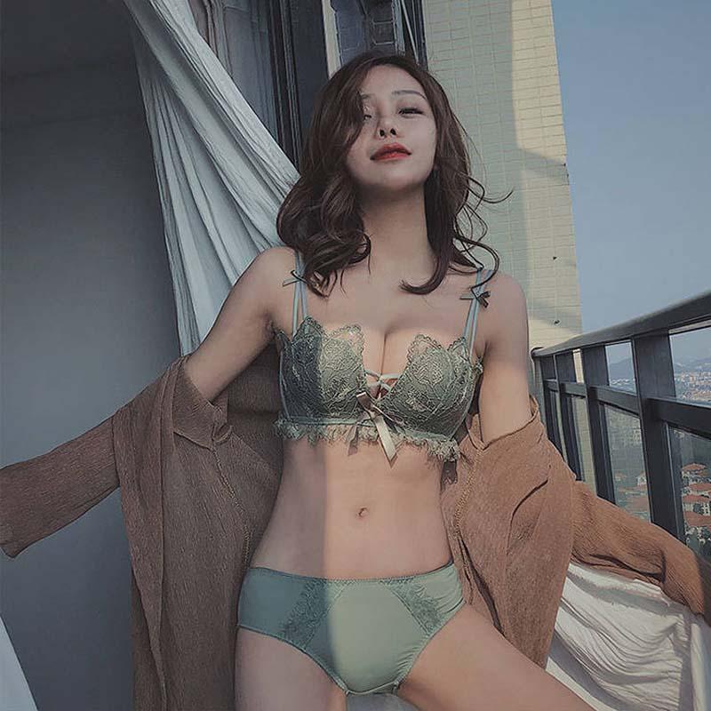 CINOON Quality Sexy   Bra     Set   Adjustable Women's lingerie Floral Lace Underwear 3/4 Cup Temptation Fashion Underwear