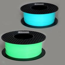 متوهجة في الظلام 1.75 مللي متر ثلاثية الأبعاد خيوط الطابعة 1 كجم/500 جرام/250 جرام مضيئة التسامي المواد للطباعة ثلاثية الأبعاد توهج الأخضر/الأزرق