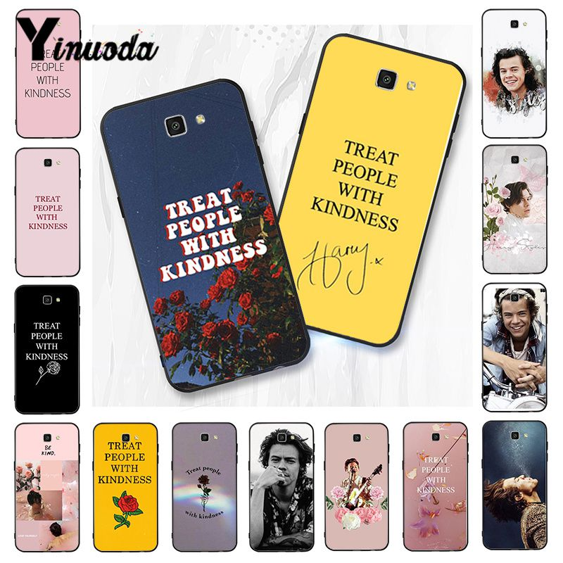 Yinuoda <font><b>Harry</b></font> <font><b>Styles</b></font> Treat people with kindness <font><b>Phone</b></font> <font><b>Case</b></font> For <font><b>Samsung</b></font> Galaxy J7 J6 J8 J4 J4Plus J7 DUO J7NEO J2 J5 Prime image