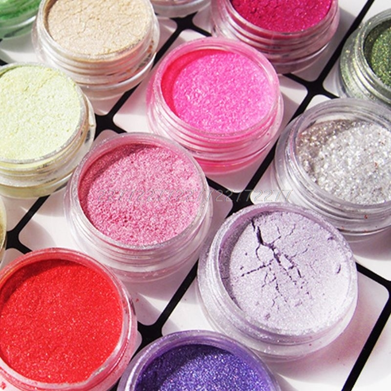 20 Pcs/set Pearlescent Powder Manual DIY Jewelry Filler Crystal Mud Epoxy Resin Color Dye Pigment S07 19 Dropship