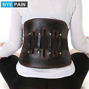 Image 3 - BYEPAIN Cinturón de Soporte Lumbar de alivio del dolor de espalda baja de tirantes para cuero para mujeres y hombres correas de cintura ajustables para ciática, Scolios