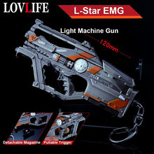12cm Detachable L-star EMG Light Machine Gun Weapon Model Key Chains Pendants Metal Alloy Keychain Toys APEX Legends Collection(China)