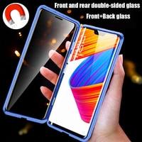 Custodia in vetro ad adsorbimento magnetico per Samsung Galaxy A51 A71 S20FE S20 S10 S9 S8 Plus Note10 20 Pro A70 A11 M31 A91 A30S A81 A21S