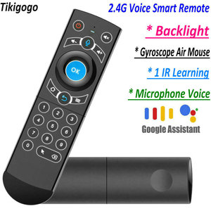 Image 1 - G21 Pro 2.4G Voz Air Mouse IR Aprendizagem Assistente de Busca Por Voz do Google para Android Smart TV Box PK G10s g20s G30s Controle Remoto