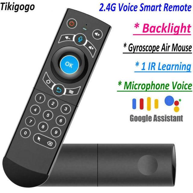 G21 Pro 2.4G Voz Air Mouse IR Aprendizagem Assistente de Busca Por Voz do Google para Android Smart TV Box PK G10s g20s G30s Controle Remoto