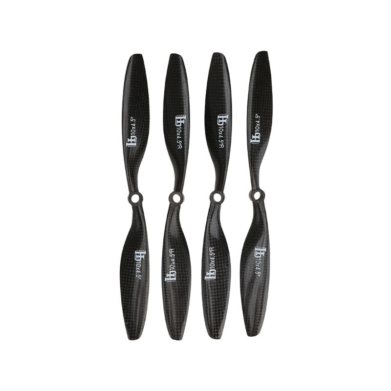 1 Pairs HJ Carbon Fiber 1045 Propellers Prop for F450 F500 F550 RC Quad Copter image