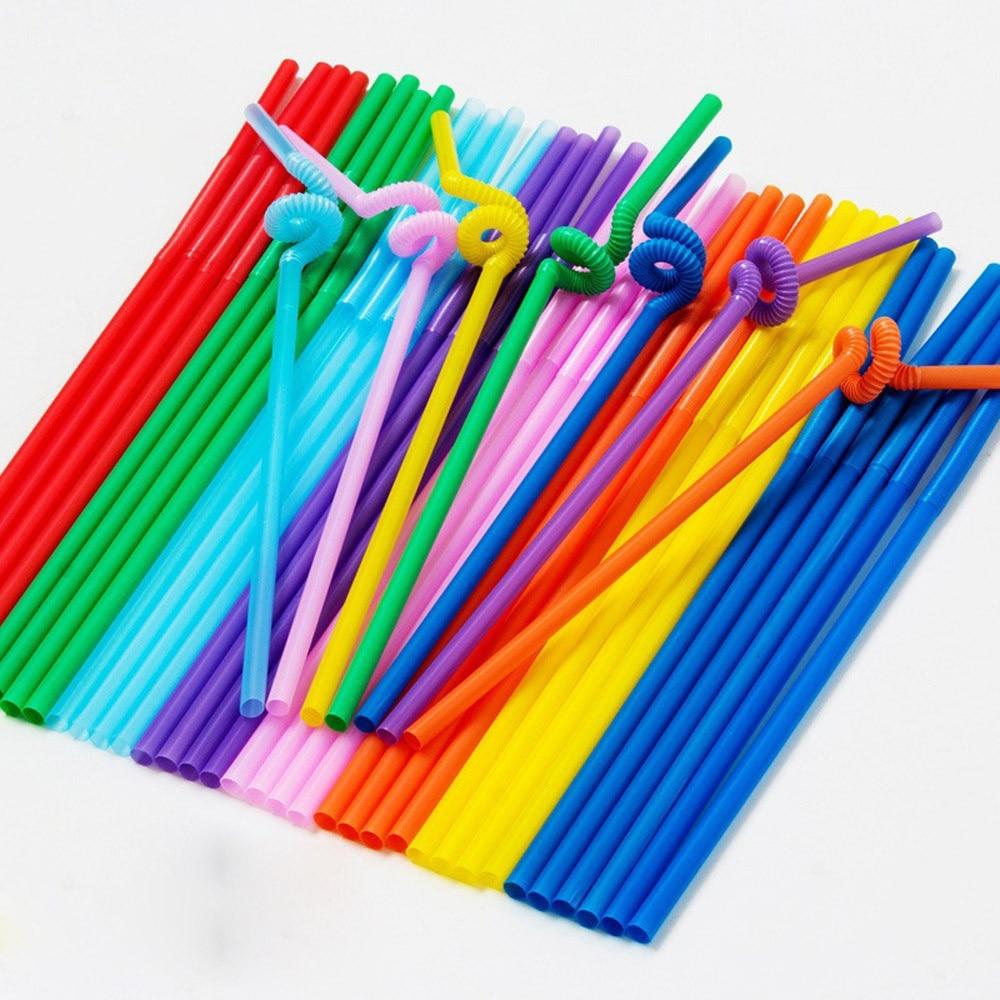 50 шт. длинные мульти-Цвет ed мульти-образный пластиковые соломинки для питья одежда для свадьбы, дня рождения мульти Цвет соломы барные аксес...