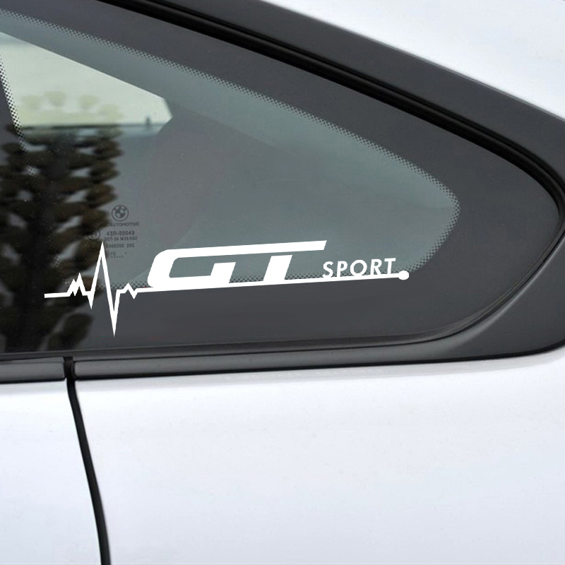 Car styling 2Pcs GT Sport Car Sticker Body Windows Door Decoration Decal For Alfa Romeo GT Ford Mustang BMW Mercedes accessories