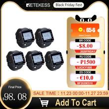 5pcs Retekess T128 Waiter Call Watch Receiver 433.92MHz For Wireless Calling System Restaurant Equipment Customer Service