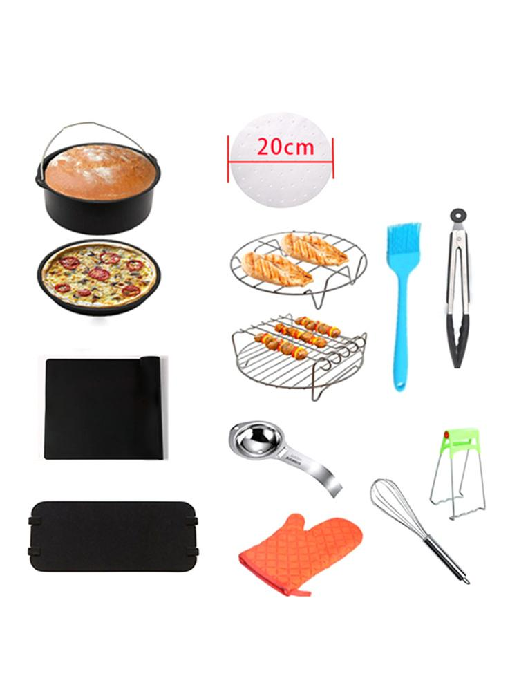 Air Fryers | 8 Inch 13pcs Air Fryers Accessories Stainless Steel Nonstick Coating Cake Bucket Pizza Tray Grill Rack For 4.8QT 6.2QT Air Fryer