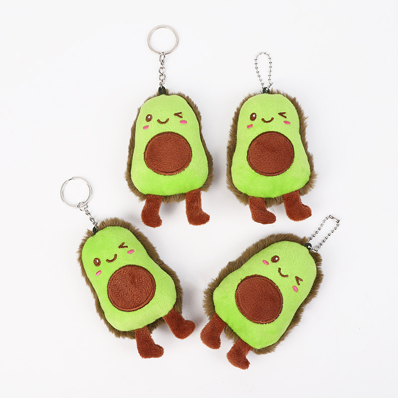 Ceative Plant Plush Toy Cute Fruit Avocado Key Ring Ladies Bag Pendant Filled Plush Doll Accessories Children's Girl Toy Gift