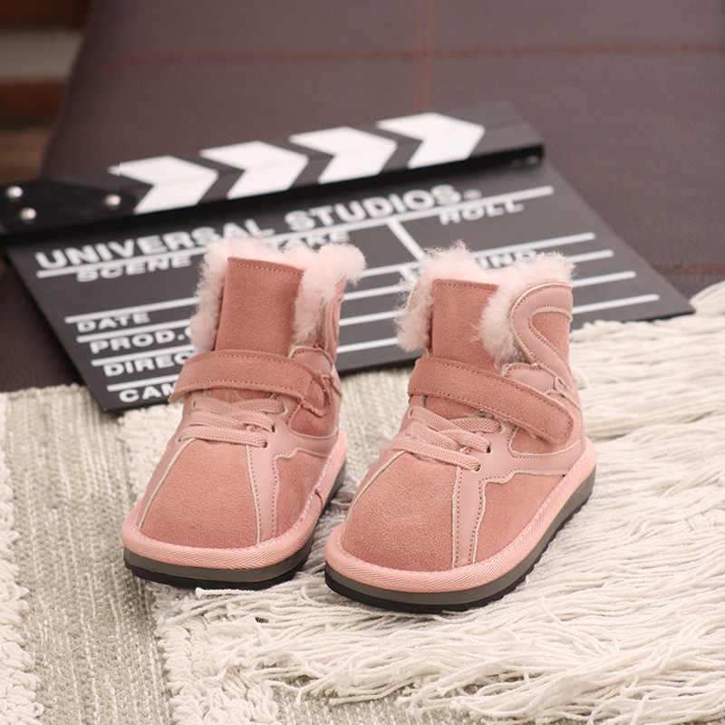 2020 зимние детские зимние ботинки для детей, водонепроницаемые Нескользящие ботинки для маленьких мальчиков, обувь для девочек, Модный хлопковый плюшевый кашемир, теплый