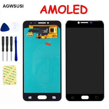 AMOLED LCD For Samsung Galaxy C5 C5000 LCD Display Screen Module Touch Screen Digitizer Glass Sensor Assembly Replacement