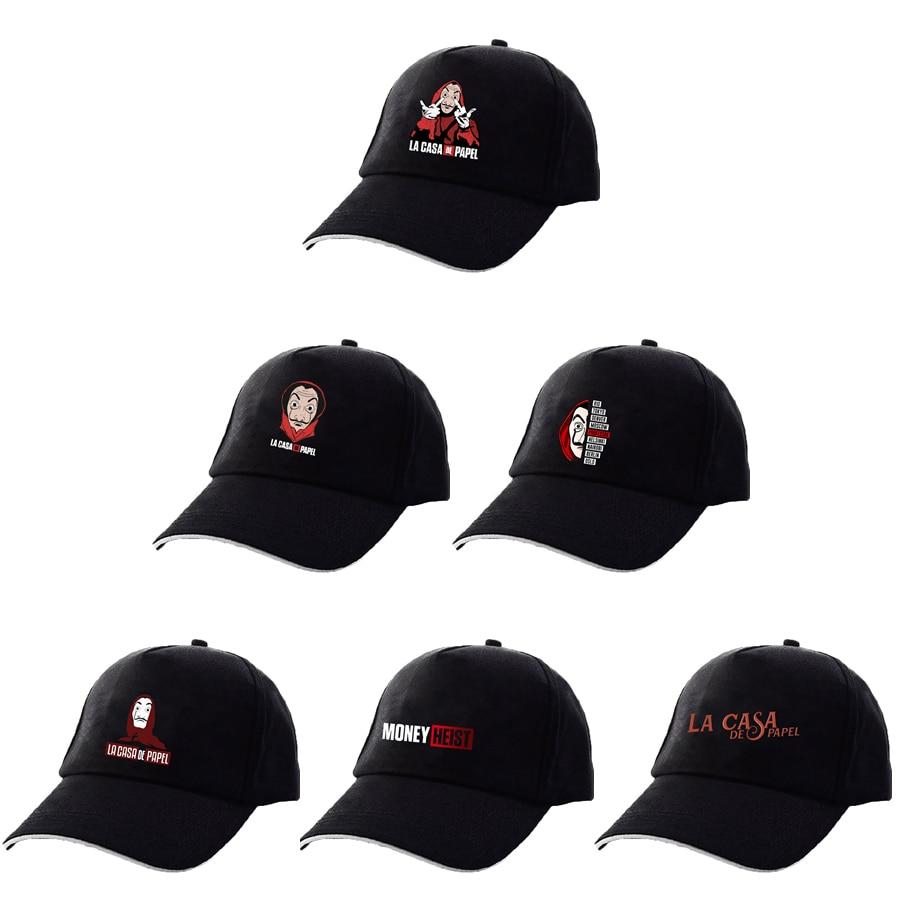 La Casa De Papel Hat Money Heist TV Men's Hat Male Women Hats House Of Paper Cap Baseball Game Men Hip Hop Cap Hats