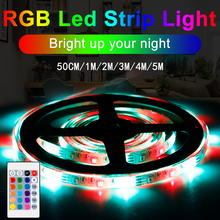CanLing LED Strip Light RGB SMD 2835 Flexible led neon Ribbon fita led light strip RGB 5M Lamp Tape Diode USB 5V Remote Control 5v rgb led strip 5050 2835 tira led usb ribbon rgb backlight tape for computer tv fita led stripe flexible neon light warm white