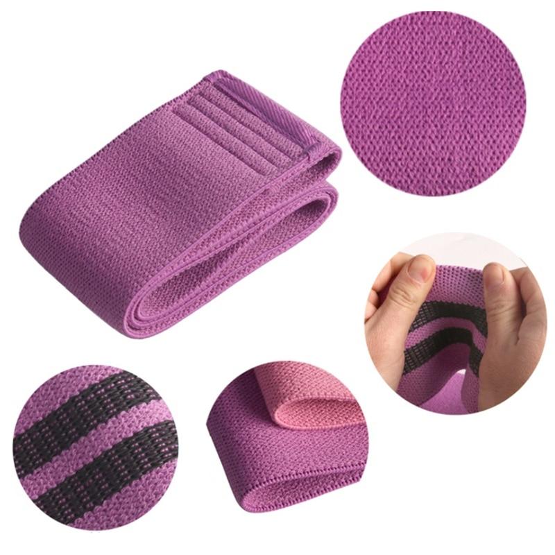 3 pçs tecido bandas de resistência booty