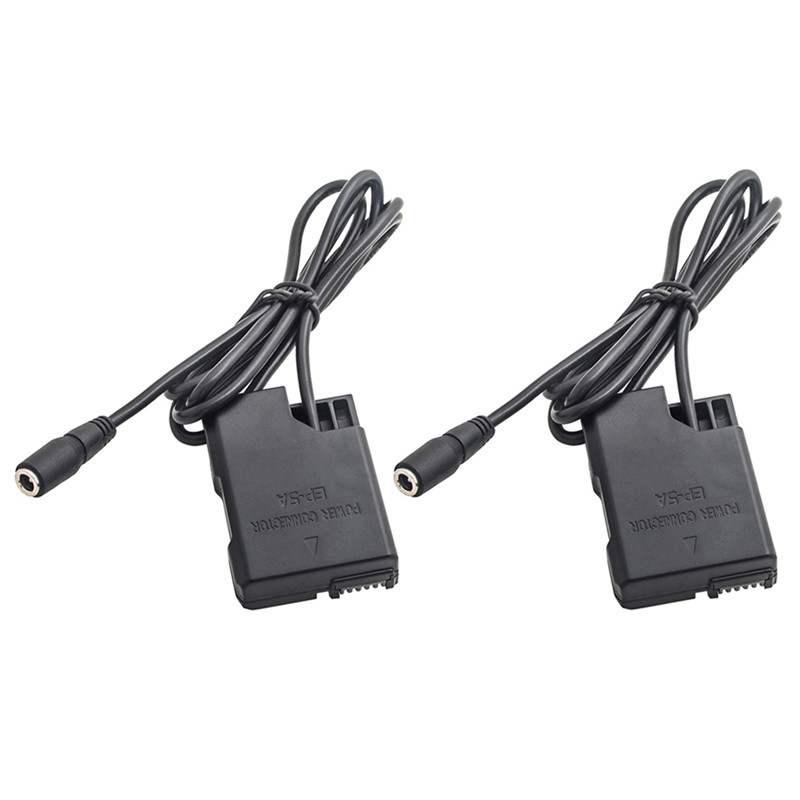 EN EL14 Dummy Battery Adapter DC Coupler External Power for Nikon D3300 D3400 D3100 D5100 D5200 D5300 D5500 D5600 DSLR Camera|Battery Accessories| |  - title=
