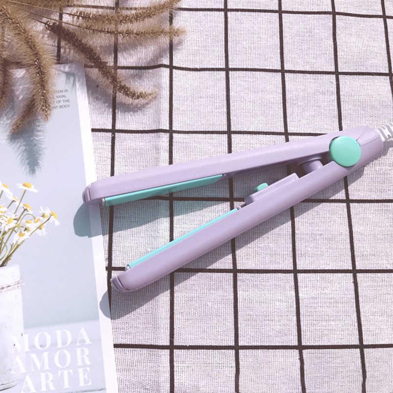 מיני שיער מחליק קיטור שטוח שיער ברזל קרלינג מקצועי מלחץ קרלינג ברזל שיער מחליק מברשת Curler