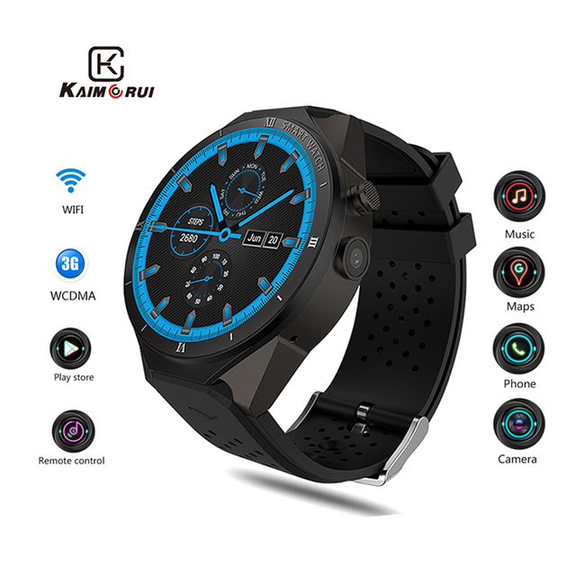 KW88 Pro Android 7.0 Smart Watch Camera 1GB+16GB Sport Watch SIM Card 3G WiFi GPS Smartwatch Connect For Xiaomi Huawei IOS Phone
