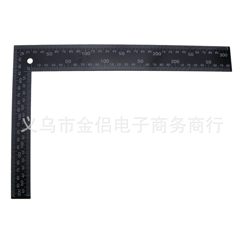 200 X 300mm Black L-square Black Steel Esquadro Steel Ruler High Quality Cut Leather Cutting Only
