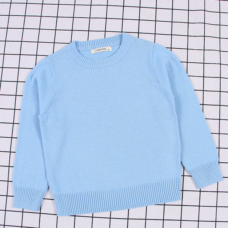 2020 New Spring Kids Pullovers Tops Baby Boys Girls Pure Color Sweaters Autumn Kids Sweaters Knitted Bottoming Boys Sweaters 5