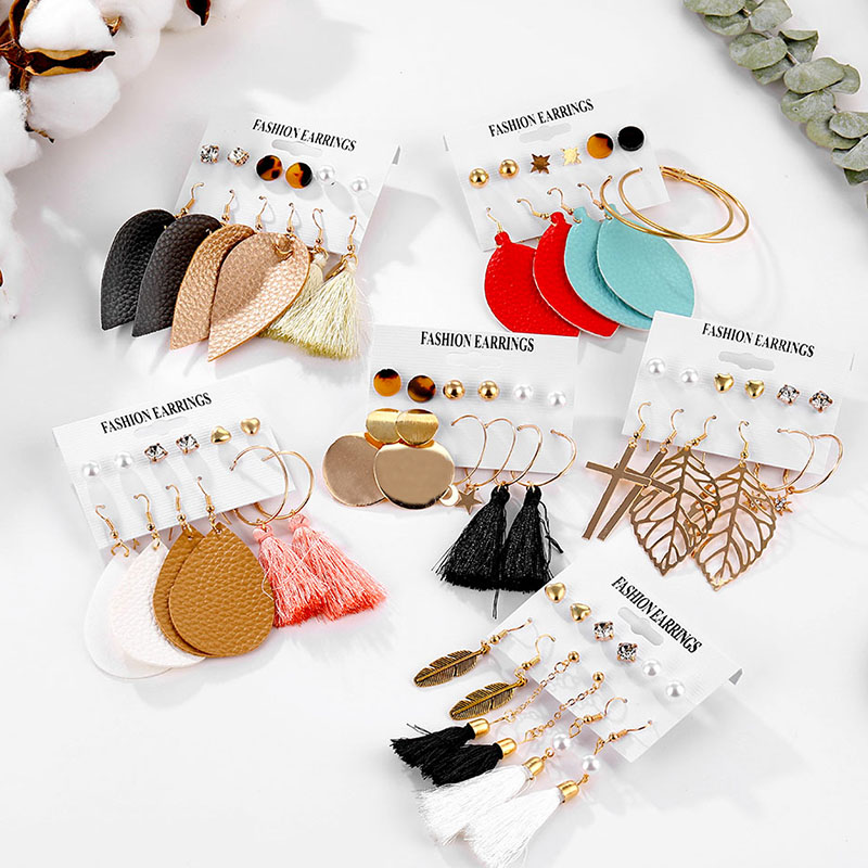 FAMSHIN Fashion Tassel Cortex Crystal Pearl Earrings For Women Bohemian Earrings Set Earring Brincos 2020 New Boho Jewelry Gifts