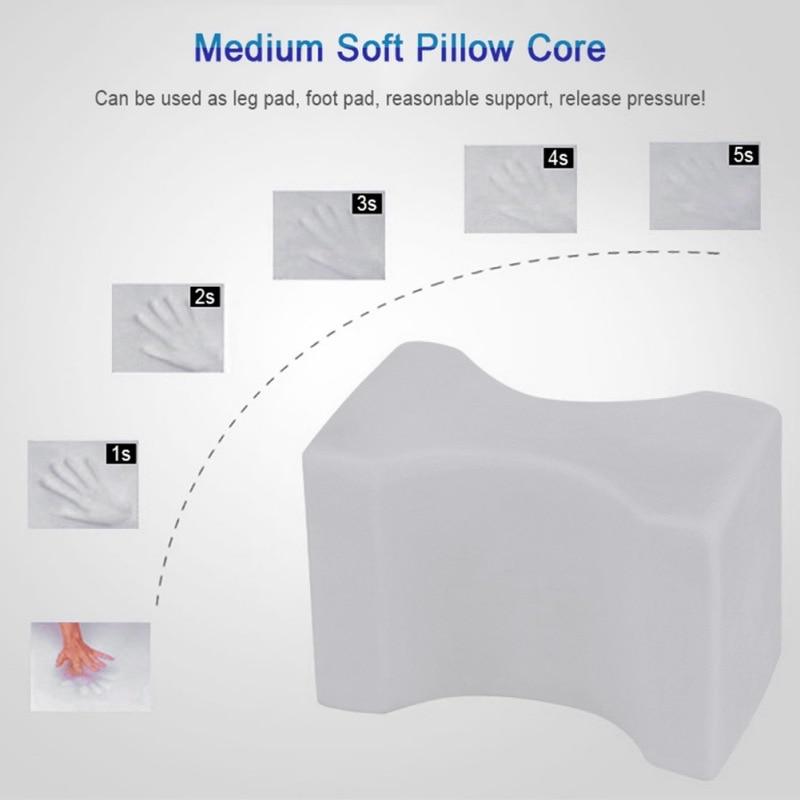 Memory Foam подушка для ног на коленях для боковых или задних слиперов для облегчения беременности Sciatic/Back/Hip боли со съемными и моющимися