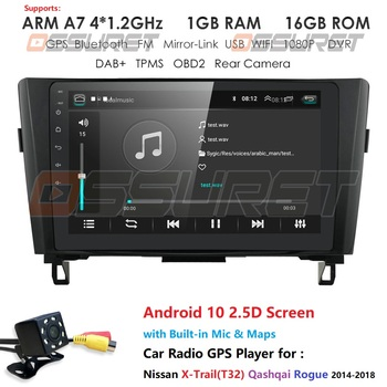 Android 9.0 Car Radio GPS Navi Wifi For Nissan Qashqai Rogue X-Trail 2014-2018 Car Multimedia Player Car Monitor Head Unit 4G BT