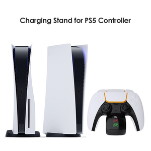 Image 3 - Wireless Dual Controller Charger Docking Beae Station Lightweight Game Playing Elements for PS5 Controller Gamepad