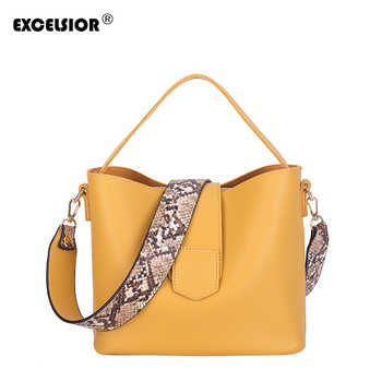 EXCELSIOR PU Leather Women's Bag Serpentine Strap Shoulder Bags for Female bolsos mujer de marca famosa 2019 sac a main femme - DISCOUNT ITEM  35% OFF All Category
