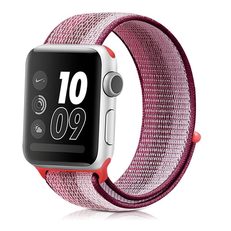 Для наручных часов Apple Watch, версии 3/2/1 38 мм 42 мм нейлон мягкий дышащий нейлон для наручных часов iWatch, сменный ремешок спортивный бесшовный series4/5 40 мм 44 мм - Цвет ремешка: stripe 4