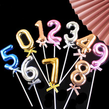 0-9 Number Cake Topper Digital Cupcake Toppers Kids 1st Happy Birthday Party Baby Shower Anniversary Wedding Cake Decor