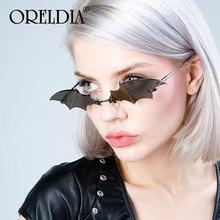 New Fashion Bat Vintage Sunglasses Women Mirror Retro Rimless