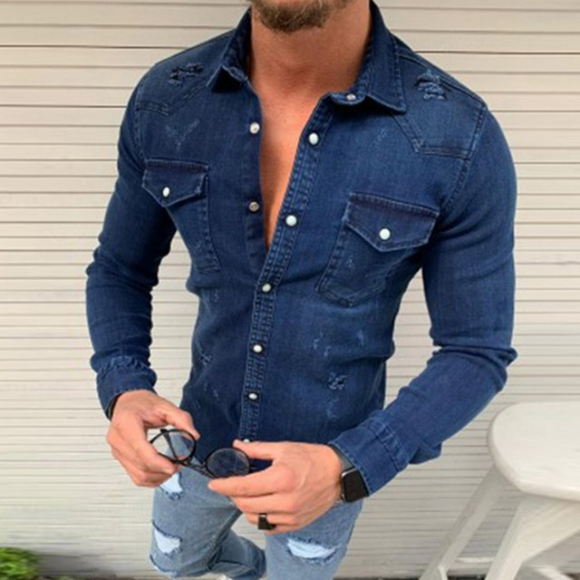 Denim Wash Long Sleeve Shirt 3