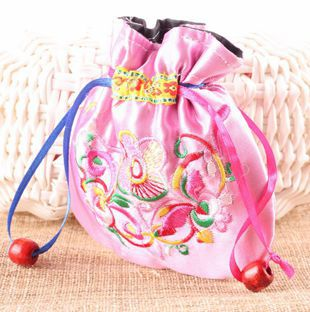 Ethnic-Style Fabric Jewelry Storage Bag Marriage Red Packet Candy Packages Export Scenic Area Gift