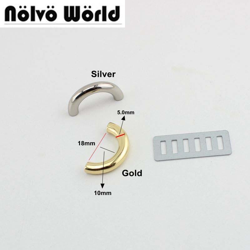 100pcs 50pcs 4colors 18mm Inside U Ring Bags Metal Hanger Alloy U Rings For Handbags Fashion Connector Accessory DIY Bridge