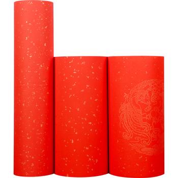 Chiński Rolling Xuan papier do kupletów 100m zagęścić czerwony papier kaligrafii półdojrzały papier Xuan Rijstpapier Carta Di Riso tanie i dobre opinie suvtoper CN (pochodzenie)