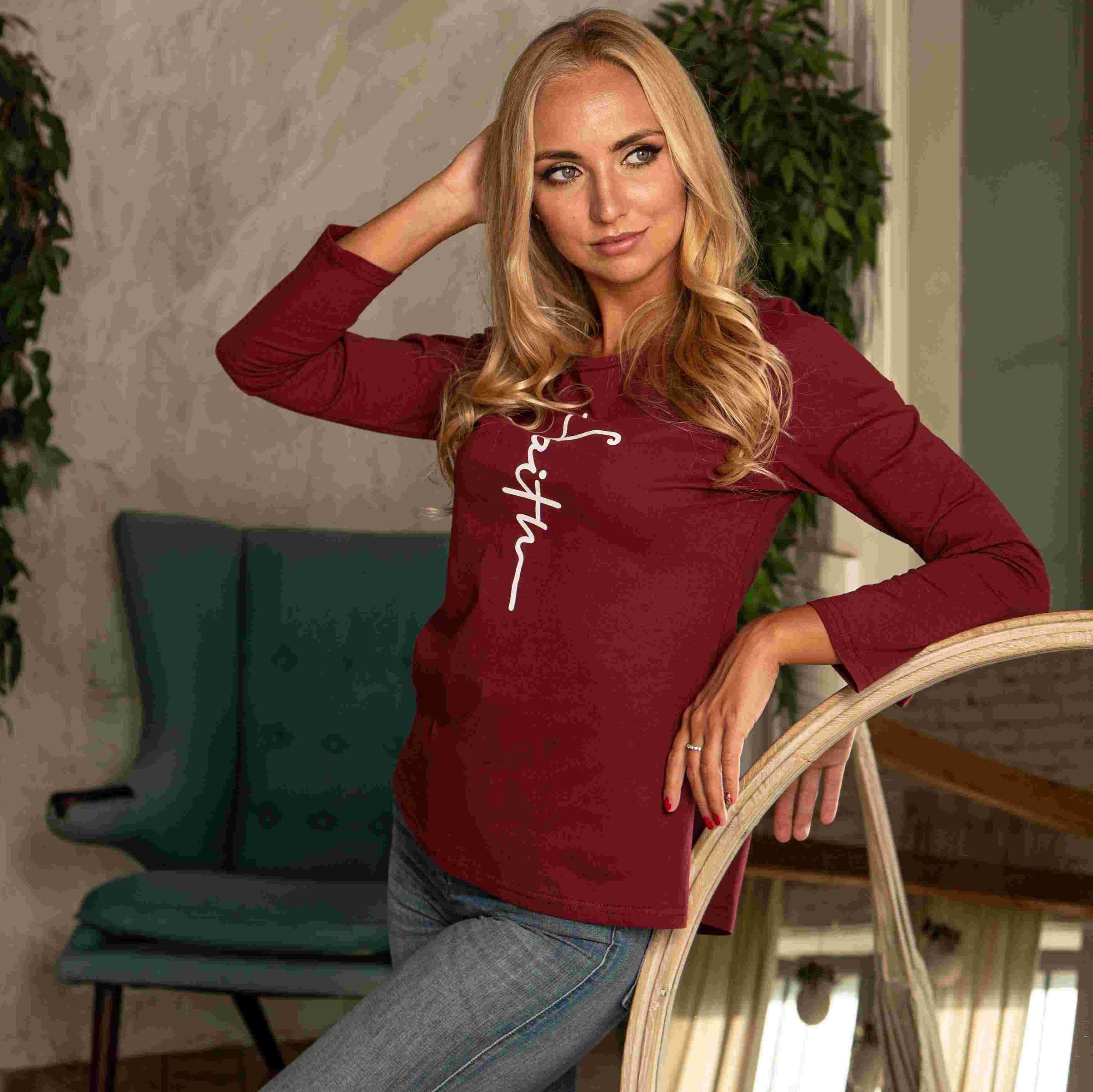 Atoff Home T-shirt F 264 (Burgundy)