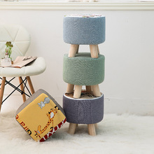 Cotton Baby Small Stool Round and Square Stool Shoes Stool for Home Lovely Baby Chair  Kids Stool