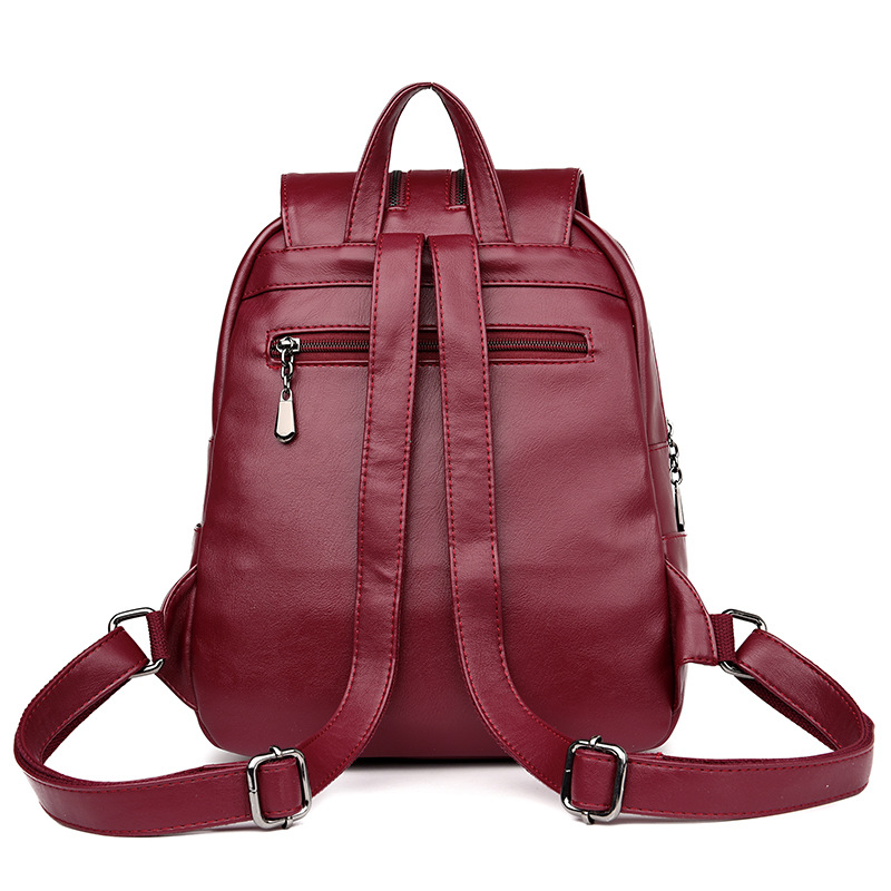 Image 4 - 2019 Brand New Laptop Backpack Women Leather Luxury Backpack Women Fashion Backpack Satchel School Bag Pu-in Backpacks from Luggage & Bags