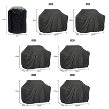 Bbq-Grill-Cover Gas-Charcoal Electric Black Outdoor Waterproof for 7-Sizes Anti-Dust-Protector
