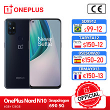 Oneplus nord n10 5g oneplus loja oficial mundial premiere versão global 6gb 128gb snapdragon 690 smartphone 90hz exibição 64mp; code: 1PLUS($20-12:For Brazail new buyer), SD9912BR($99-12)