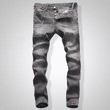цена на DSQ NEW Men Jeans Ripped for Men Skinny DSQ Jeans Pants Men Jeans  Button Outwear Man Pants