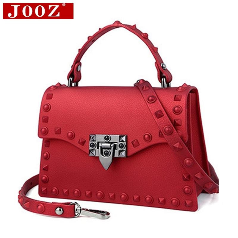 Women's Luxury Messenger Bag Famous Designer Brand Matte Handbag Clear Transparent Rivet Jelly Package Pvc Leather Shoulder Bag