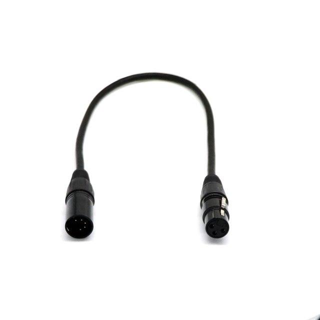 Câble Dmx de retournement Xlr mâle à 3 broches américain Dj 5 broches pour équipement Audio Home cinéma Pro