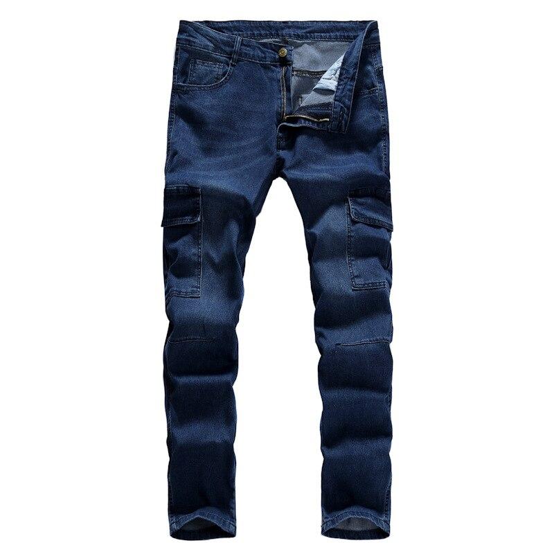 Pantalones informales con múltiples bolsillos para hombre, Vaqueros ajustados de estilo Hip-hop, para correr al aire libre, mono