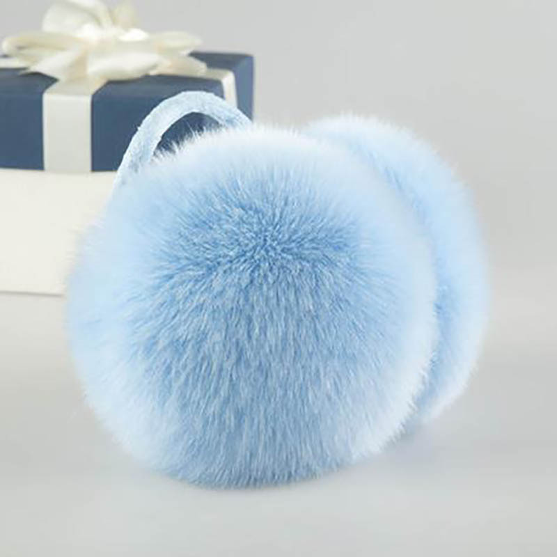 Calymel Winter Earmuffs Imitation Rabbit Fur Ear Muffs Girls Unisex Women Plush Earcap Warm Ear Cover Fur Headphones New