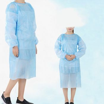 цена на 10 Pack Non-woven Blue Disposable Isolation Gown Protective Isolation Gown Clothing FluidResistant Impervious