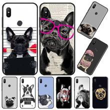 Cute Funny French Bulldog Phone Cases For Xiaomi Redmi note 7 8 9 t k30 max3 9 s 10 pro lite