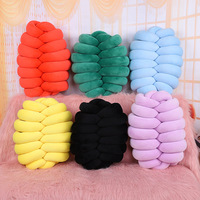 DIY Kawaii Pillow Knotted Pillow Hand knitted Cushion for Kids Adults Pillow Stuffing Boys Girls Gifts Soft Comfortable Pillow